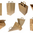 Collection of brown Paper Bags — Stock Photo