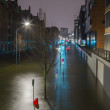 Flooded Street after Hurricane Xaver — Stock Photo