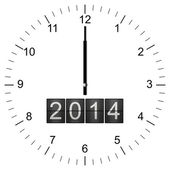 Clock Illustration new years eve 12:00 — Stockfoto