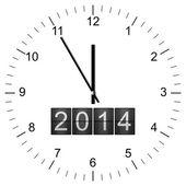 Clock Illustration new years eve 5 to 12 — Stock Photo