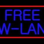 Neon Sign free w-lan — Stock Photo #38920177