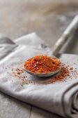 Chile en polvo en cuchara — Foto de Stock