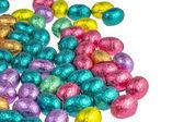 Kleurrijke chocolade paaseieren — Stockfoto