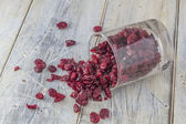Dried Cranberries in a Glass — Stock Photo