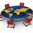 Round conference table - Stock Photo