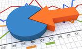 Business diagram och grafer — Stockfoto