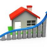 växande hem försäljning — Stockfoto