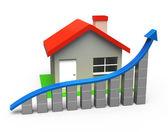 Crece venta de casa — Foto de Stock