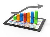 Gráfico e gráficos — Foto Stock