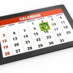 Calendar on tablet — Stock Photo #24048031