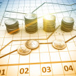 Financial and business chart and graphs — Stock Photo