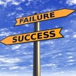 Arrows success failure on sky background — Stock Photo #25752375