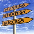 Stock Photo: Strategy planning marketing