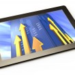 Computer tablet with business growth graph — Stock Photo #25753435