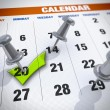 Calendar with check mark — Stock Photo