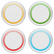 Collection of four web buttons — Stock Photo