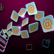Email symbol abstract — Stock Photo #25754387