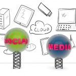 Social media concept — Stock Photo #25754623