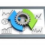 Process charts concept — Stock Photo