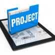 Stock Photo: Project as idea