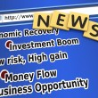 Stock Photo: Economic recovery news