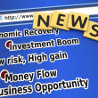 Economic recovery news — Stockfoto
