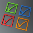 Positive checkmark stickers — Foto de Stock