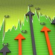 Stock Photo: Market datwith arrows