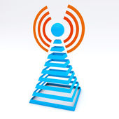 Communications tower. Wireless icon. — Stock Photo