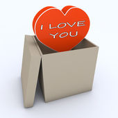 I love you in the box — Stock Photo