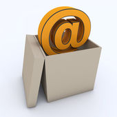 E mail icon in the box — Stock Photo