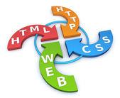Web arrows concept — Stock Photo