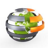 Abstract green globe, concept — Stock Photo