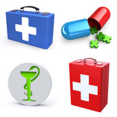 Medical equipment set — Stock Photo
