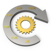 Grafico di processo di affari — Foto Stock
