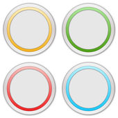 Collection of four web buttons — Stok fotoğraf