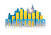 Marketing concept close up — Stock Photo