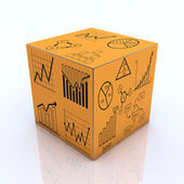 Cube graph and chart concept — Stock Photo