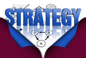 Strategy planning concept — Stock Photo