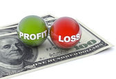 Business concept, profit and loss — Stock Photo
