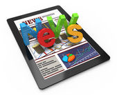 Business news on tablet computer — Stock Photo