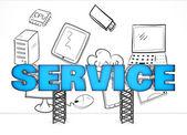 Electronics service concept — Stock Photo