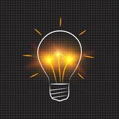 Light bulb idea concept — Stock Photo