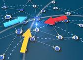 ネットワークのグローバル ビジネス コンセプト — ストック写真