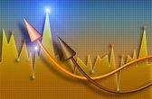 Business market diagram — Stock Photo
