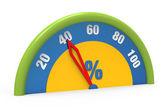 Zegar wskazujący czterdzieści procent — Zdjęcie stockowe