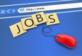 Trovare lavoro come concetto — Foto Stock