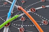 Global business network traffic — Stock Photo