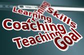 Training, coaching words concept — Stock Photo