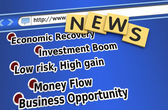 Economic recovery news — Stock Photo